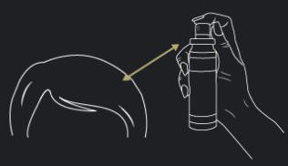 Spray fijador de fibras capilares